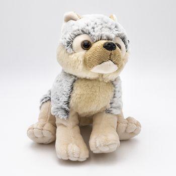 Loup gris 16 cm