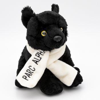 Loup noir 16 cm  & Écharpe Alpha