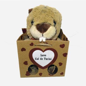 Marmotte sac souvenir 12 cm