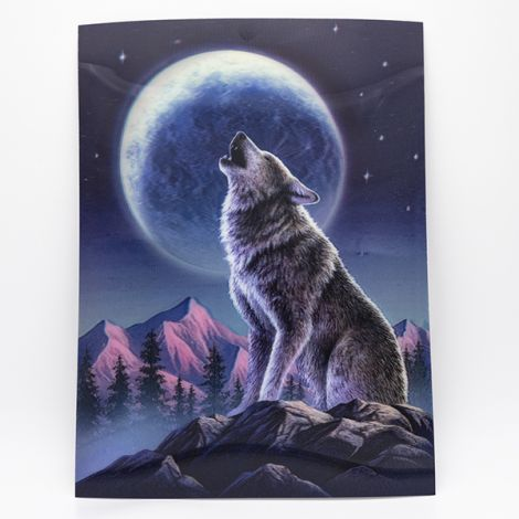 "Poster 3D ""Loup & Lune"""