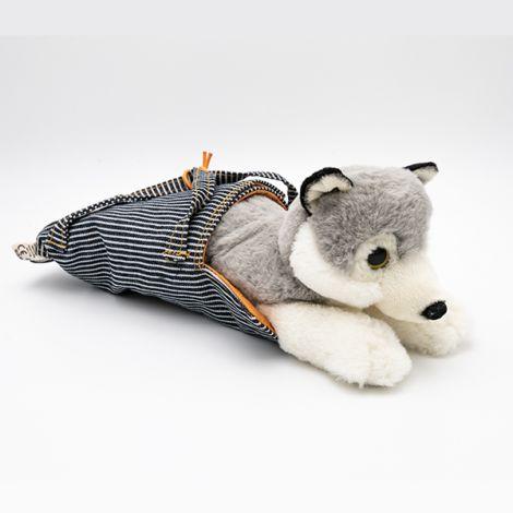 Loup dans sac de voyage 27 cm