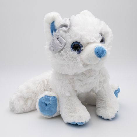 Loup blanc 30cm