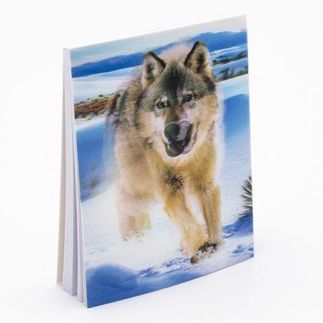"""Bloc note 3D """"Loup dans la neige"""""""