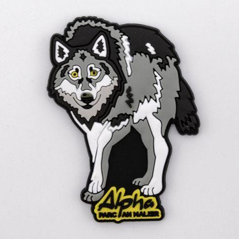 """Magnet en caoutchou """"Loup Alpha"""""""
