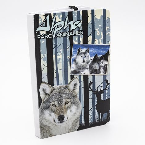 """Calepin élastique """"Loup dans la forêt"""""""