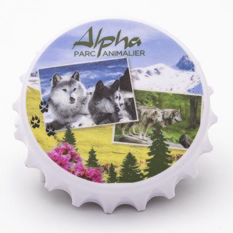Magnet décapsuleur loup été Alpha