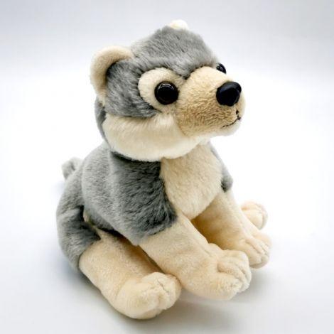 Loup gris 13 cm