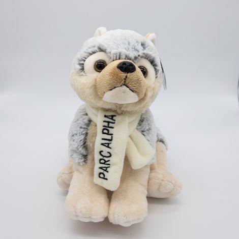 Loup gris & Écharpe Alpha