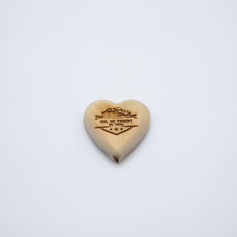 Magnet coeur bois Turini