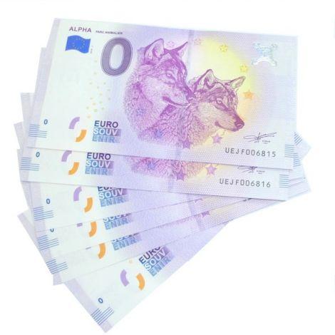 Billet Touristique Euro Souvenir Alpha 2018
