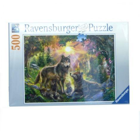 Puzzle Famille de Loups  -500 pièces