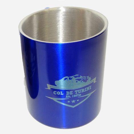 Mug métal mousqueton bleu Col de Turini