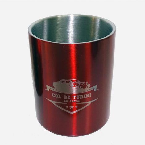 Mug métal mousqueton rouge Col de Turini